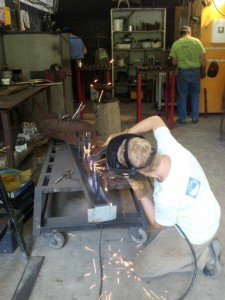 8-26-14 saw and pegs - CD welding